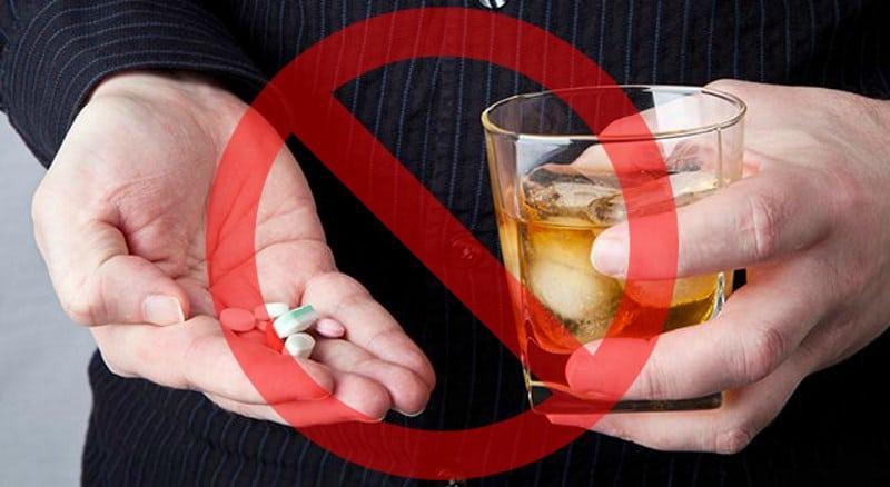 Таблетки и алкоголь не совместимы