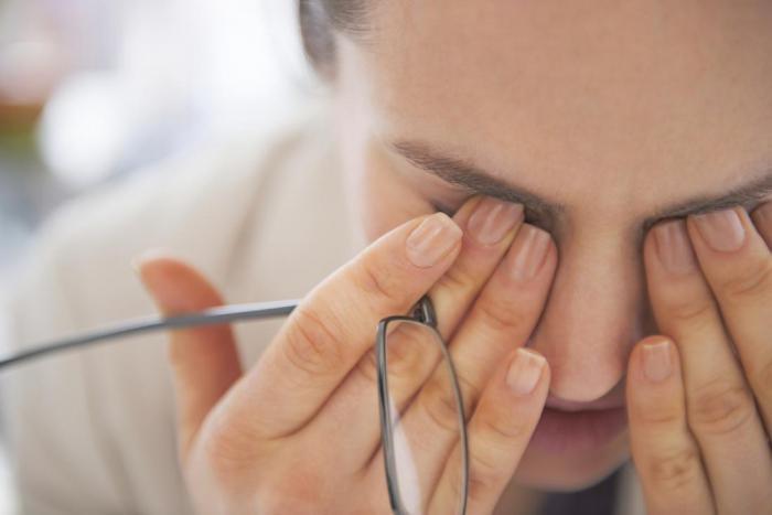 Ухудшение работы органов зрения