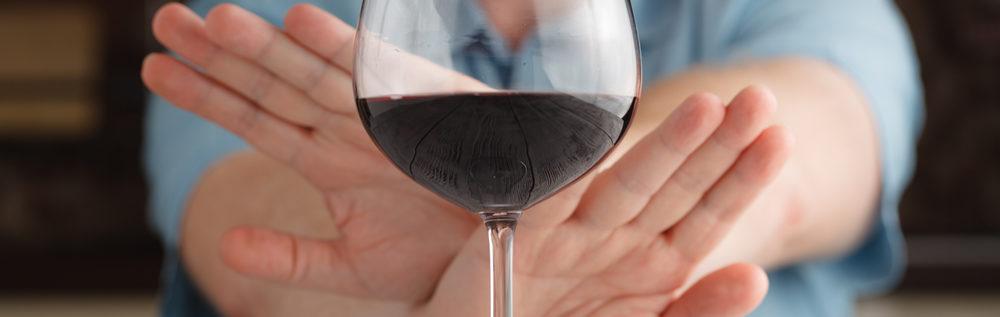 отказаться от употребления алкогольных напитков