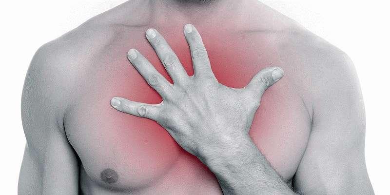 Резкое сдавливание в грудной клетке