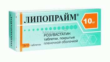Препарат Липопрайм из группы статины на основе розувастина