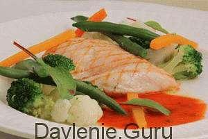 Отварная или запеченная куриная грудка с овощами