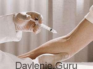 При внутривенном введении препарата