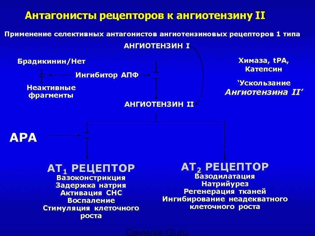 Блокаторы рецепторов ангиотензина II