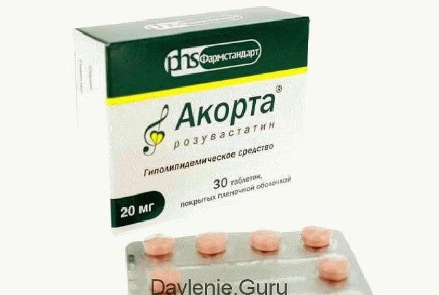 Таблетки Акорта