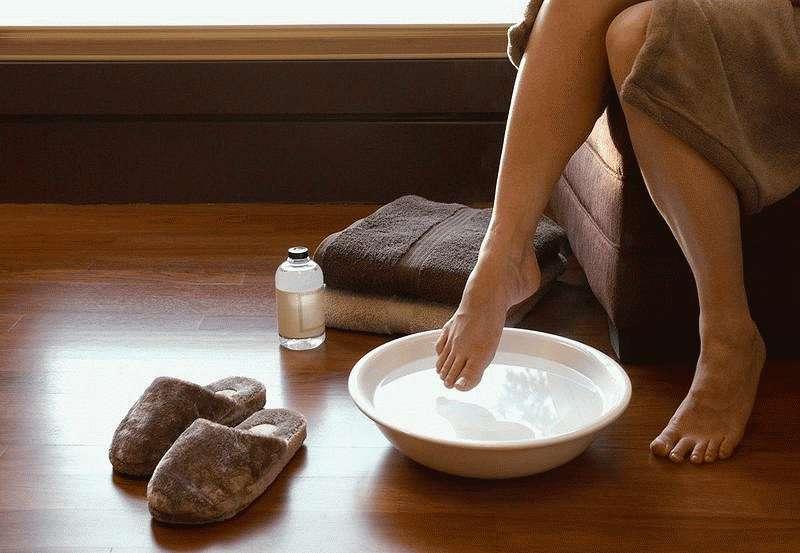 Принять ножную ванночку