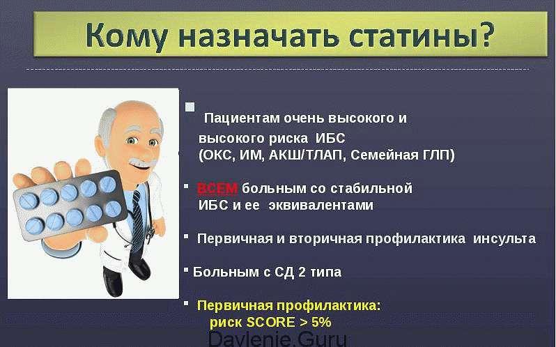 Назначение статинов