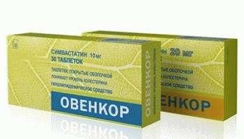 Овенкор лекарство для снижения уровня холестерина в крови