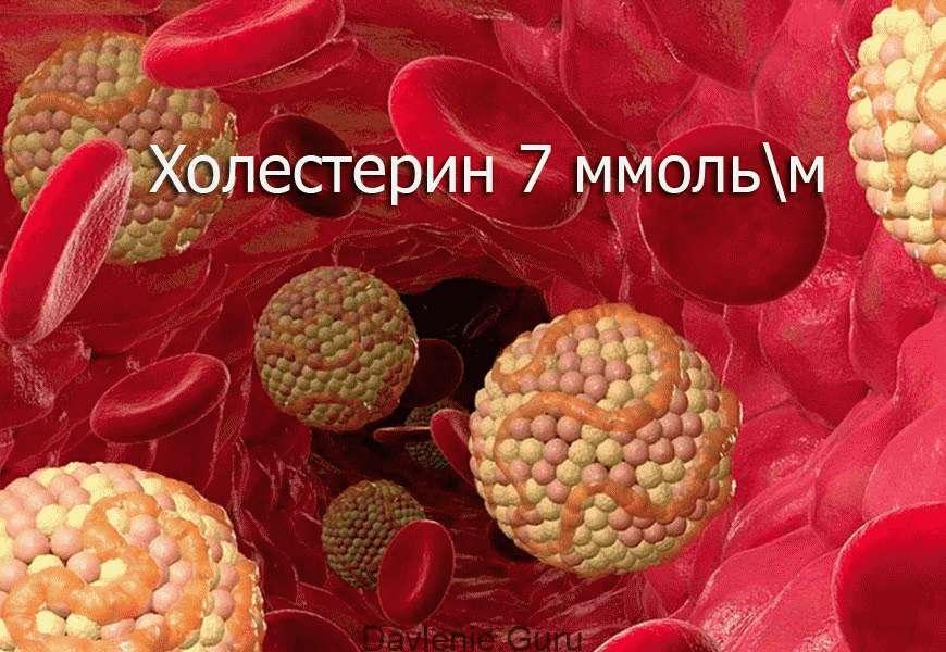 Холестерин 7 ммоль