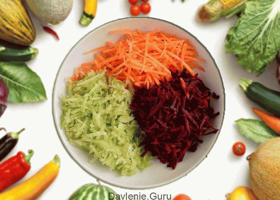 Салат из свеклы, редьки и моркови