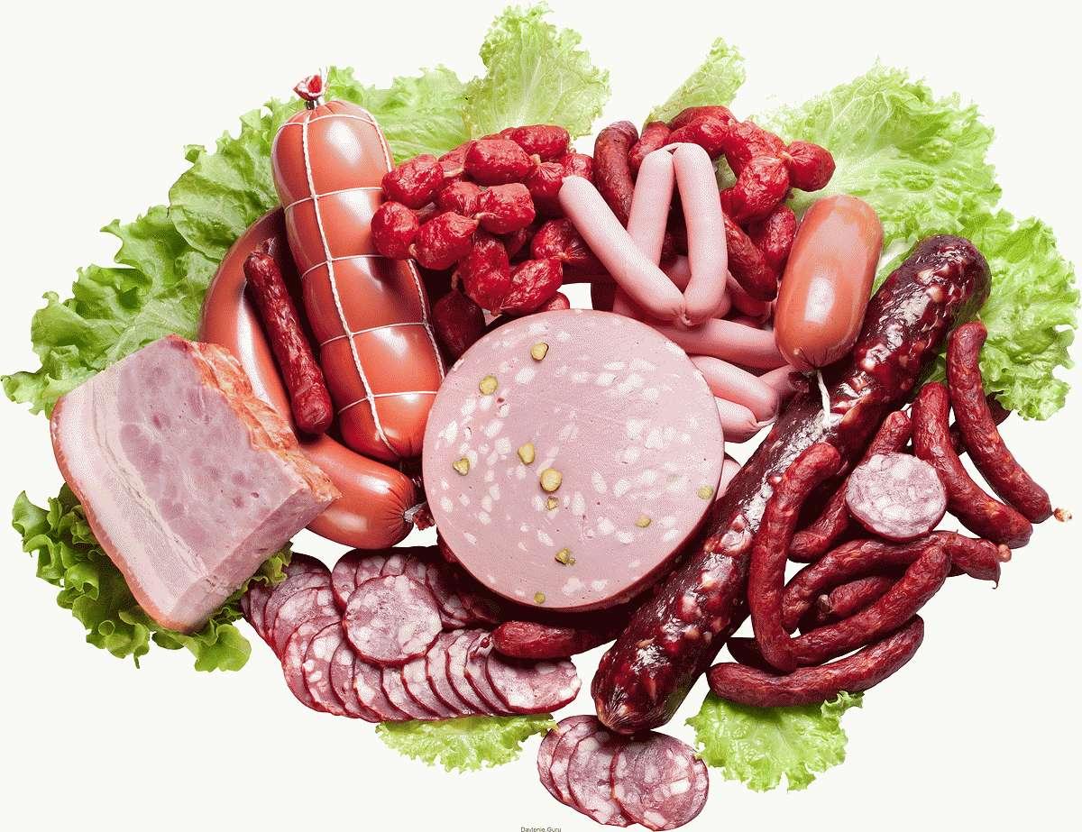 Колбасные и мясные изделия