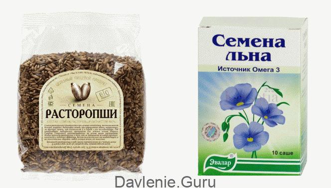 Льняное семя и расторопша