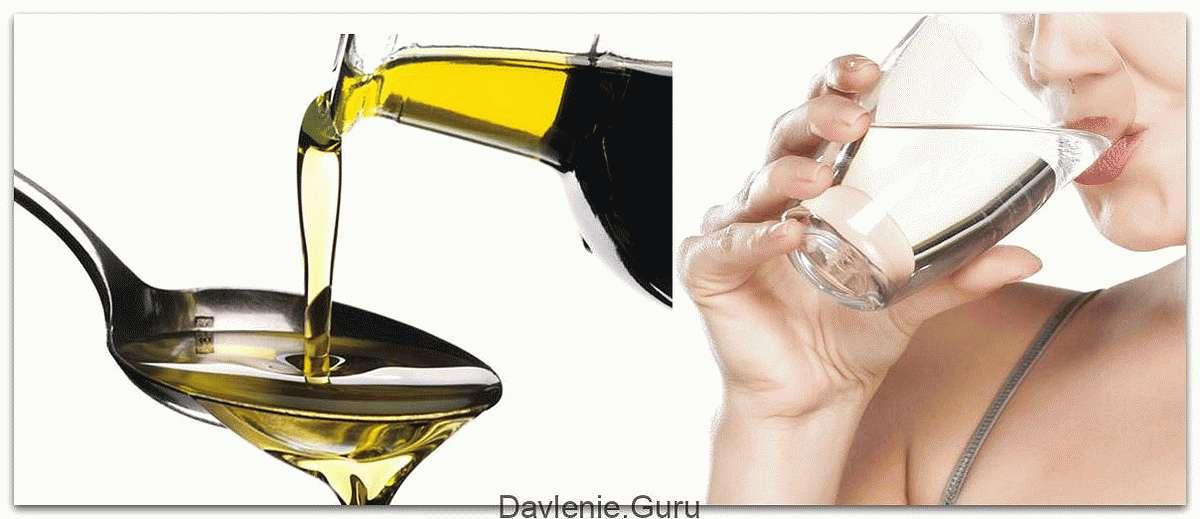 Запивать масло стаканом теплой воды