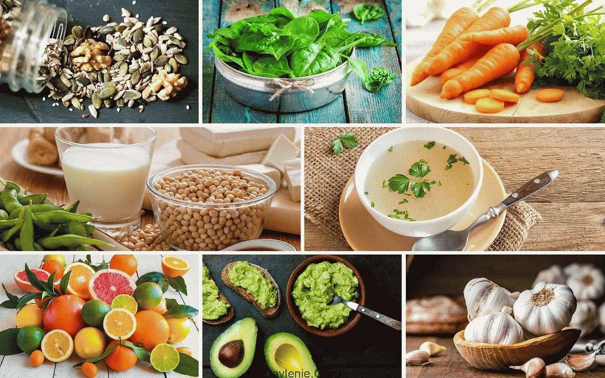 Источники коллагена в продуктах