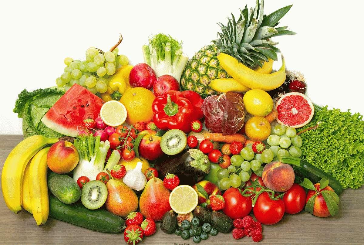 Употребление ягод фруктов и овощей