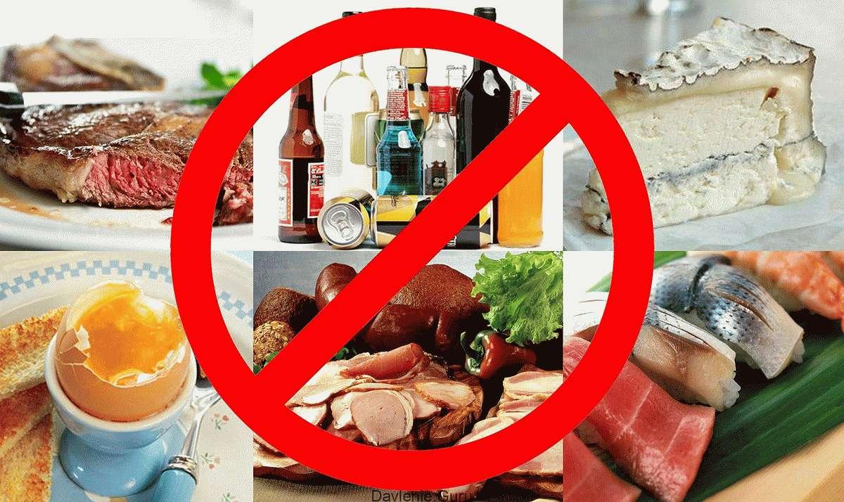 Запрещенные продукты при атеросклерозе